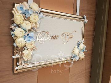 Gardenya Kapı Süsü - Papis Baby - Hastane Odası Süsleme - Doğum Organizasyonu