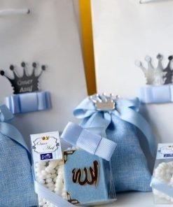 Hediyelik Mevlüt Seti Mavi - Papis Baby - Hastane Odası Süsleme - Doğum Organizasyonu