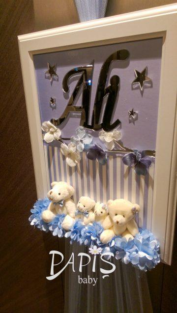 İki Kardeş Kapı Süsü - Papis Baby - Hastane Odası Süsleme - Doğum Organizasyonu