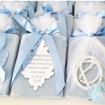 İsme Özel Yasin Dua Kitabı Tesbihli Mavi - Papis Baby - Hastane Odası Süsleme - Doğum Organizasyonu
