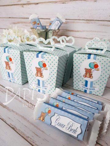 Tasarımlı Çikolata Şeker Kutusu - Papis Baby - Hastane Odası Süsleme - Doğum Organizasyonu