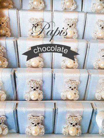 Erkek Taşlı Ayıcıklı Çikolata - Papis Baby - Hastane Odası Süsleme - Doğum Organizasyonu