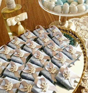Taşlı Kral Taç - Papis Baby - Hastane Odası Süsleme - Doğum Organizasyonu