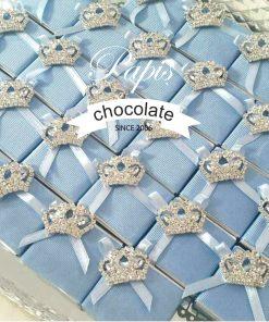 Taşlı Taç Çikolata - Papis Baby - Hastane Odası Süsleme - Doğum Organizasyonu